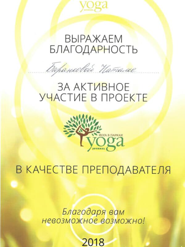 Йога в парках. Занятия для начинающих